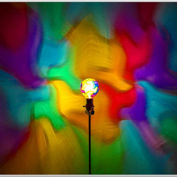 RESERVED FOR ELIZABETH - Rainbow Mosaic Mood-Light Bulb 4 Color Therapy, Night Lights, Parties, Mood Lighting