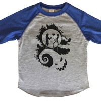 The Nightmare Before Christmas BOYS OR GIRLS BASEBALL 3/4 SLEEVE RAGLAN - VERY SOFT TRENDY SHIRT 1960