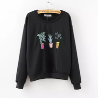 Embroidered Pants Sweater
