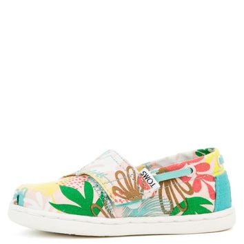 Tiny Toms Biminis Tropical Palms Pink Sneakers