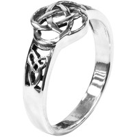 Cut-out Celtic Knot - Silver Ring