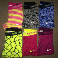 "Nike Pro Compression Shorts 3"" Spandex Core Combat NWT (1-Pair) Women's"