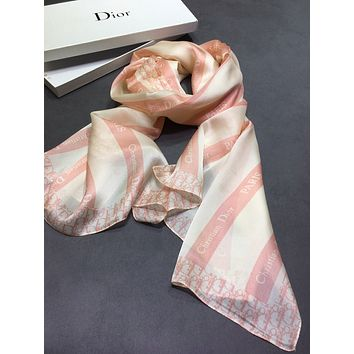 Dior Fashion Women's Letter Print Cashmere Scarf Scarves 0531wh