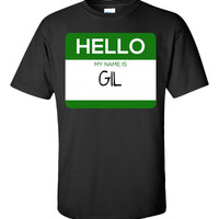 Hello My Name Is GIL v1-Unisex Tshirt