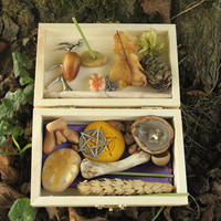 Pagan God altar kit, Green Man altar, Drawing Down the Sun, ritual portable altar set, wiccan travel altar, male witch, pagan starter kit