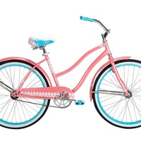 Huffy Bicycle Company Ladies Number 26635 Good Vibrations Cruiser Bike, 26-Inch, Coral