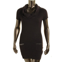 INC Womens Ribbed Knit Studded Tunic Sweater