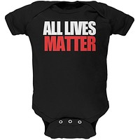 All Lives Matter Black Soft Baby One Piece