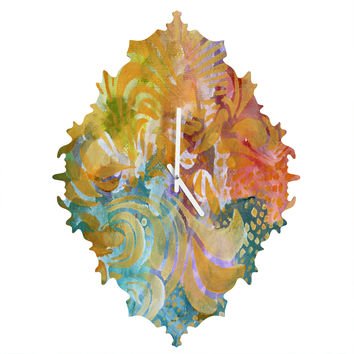Madart Inc. Colorful Whimsy Background Baroque Clock