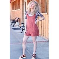 Demi Knot Overall Jumper {Marsala} - Size LARGE