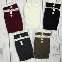 Diamond Boot Cuffs