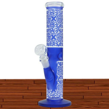"""12"""" ART WORK COLOR G/G WITH ICE CATCHER WATER PIPE -WP152"""