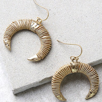 By the Horns Gold Earrings