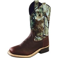 Youth Old West Thunder Rust Camo Cowboy Boots