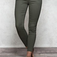 Sasha Ankle Skinny Colored Jeans