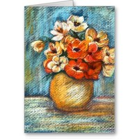 Bouquet of Flowers Notecard Cards