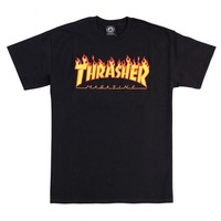 Flame T Shirt in Black by Thrasher