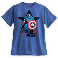 Captain America Flocked Tee for Men