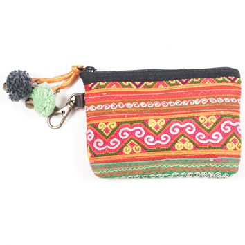 Vintage Hmong Hill Tribe Coin Purse (Thailand) - Style 3