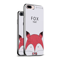 LUXENDARY FOX ALL THAT TEXTURE PRINTED COOL DESIGN STYLISH CHROME SERIES CASE FOR IPHONE 7