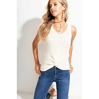 Ivory Twist Front Top