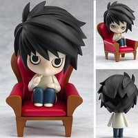 NEW hot 10cm DEATH NOTE Lawliet action figure toys Christmas toy