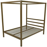 Gold Canopy Full Size Bed Frame With Build-In Headboard Does Not include The Mattress