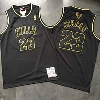 Chicago Bulls 23 Michael Jordan Black Swingman Jersey