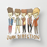 Juan Direction One Direction Cartoon Throw Pillow by xjen94 | Society6