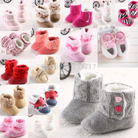16 Kinds Of Infant Baby Toddler Crochet Knit Fleece Boys &Girls Booties Warm Knit Bootee Crib Bbay Shoes Socks For 0-18 Months