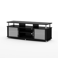 Eco-Friendly TV Stand in Black Finish - Contemporary Style