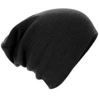 2016 Winter Beanies Solid Color Hat Unisex Plain Black Warm Soft Beanie Skull Knit Cap Gorro  For Men Women