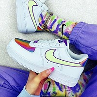 Nike Air Force 1 AF1 Easter Laser Stylish Women Men Casual Sports Shoes Sneakers