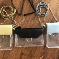 Clear Game Day Bag- Gold, Black, Or Grey