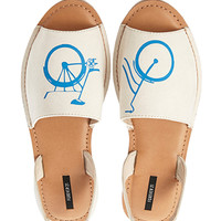 Bicycle Sling-Back Sandals