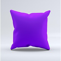Solid Purple  Ink-Fuzed Decorative Throw Pillow