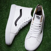 Vans Sk8 Hi White High Top Sneaker Flats Shoes Sport Shoes