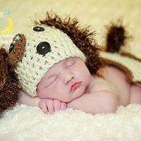 Puppy Outfit, Dog Hat, Diaper Cover, Animal Crochet Photo Prop, Newborn, Baby Girl, Baby Boy, Toddler, Etsykids, Artisan Group