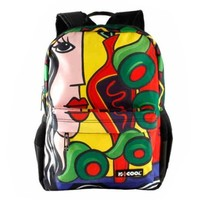 CrazyPomelo Picasso Abstract Painting Backpack A