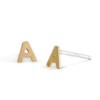Letters Stud Earrings
