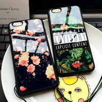ADVISORY Parental Flowers Cases For Iphone 7 Case For iPhone 7 6 6s Plus 5 5S