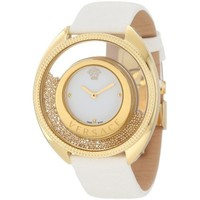 Versace Women's 86Q70D002 S001 Destiny Spirit Gold PVD Watch with Leather Band