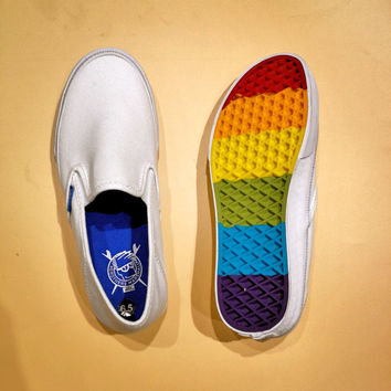 Vans Slip-Om X Brothers Marshall Rainbow Soles Women Men Sneaker