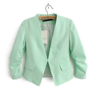 Fold Long-Sleeve Pocket Blazer