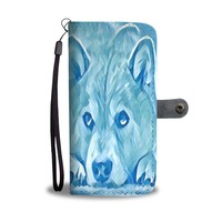 Iced Shiba Inu Dog Print Wallet Case-Free Shipping