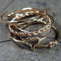 Stacked Rings 14kt Gold Filled Mix and Match by AviationJewelry