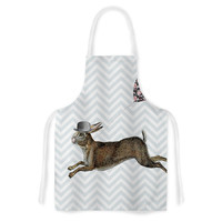 """Suzanne Carter """"Hare Today"""" Rabbit Artistic Apron"""