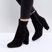 Dune London Oliah Suede Heeled Boots at asos.com