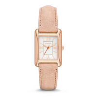 FOSSIL® Women's Florence Rose Gold Stainless Steel Watch with Leather Strap