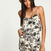 TROPIC FLOWERS TIERED ROMPER